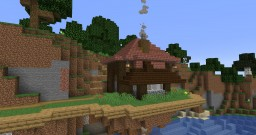 """Floating """"Starter"""" House and Island Minecraft Map & Project"""
