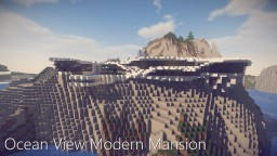 Ocean View Modern Mansion Minecraft Map & Project