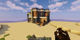 GreySand Modern Beach House Minecraft Map & Project