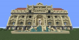 Trevina Fountain and Villa House Minecraft Map & Project