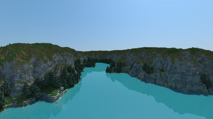 Fjord Render, Made Using Chunky