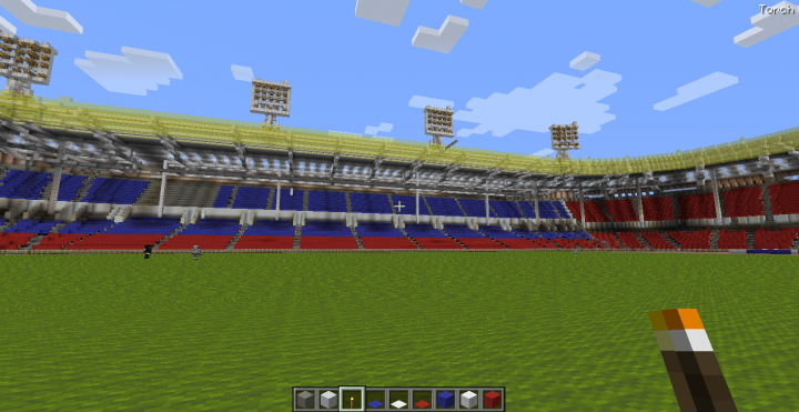 Inside the Stadium. Seating is not completely done xD