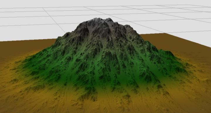 Circle Mountain brush in World Machine