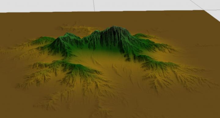 Normal Mountain brush in World Machine