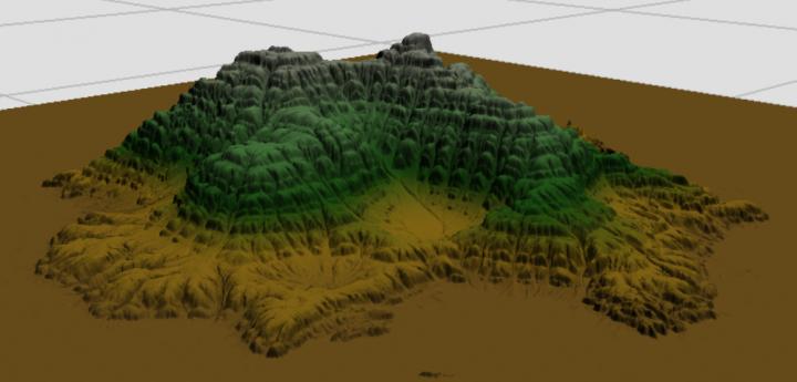 Terraced Mountain brush in World Machine