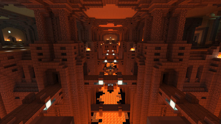 Molten Ravines. The Mushroom Farm, Nether Wart Farm and Crystal Forge are located in this area.