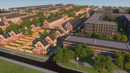 2:1 Visualised School Project - A newly designed suburb Minecraft Map & Project