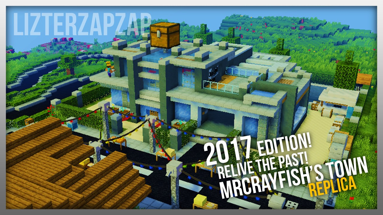 MrCrayfish's Town Replica - 2017 Edition (Modded Minecraft