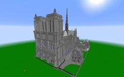 [WIP] Notre Dame de Paris, France 2:1 replica Minecraft Map & Project