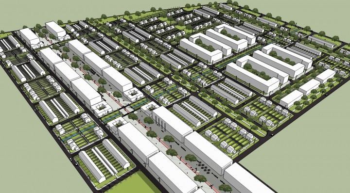 SketchUp Model of the suburb