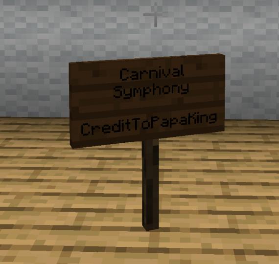 1.14's new Dark Oak Sign...
