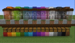 1.14 Automatic Wool Farm and Sorter (4x18x5) Minecraft Map & Project