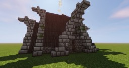 Viking Hut Skyrim Inspiration SURVIVAL READY [DOWNLOAD] Minecraft Map & Project
