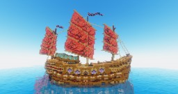 Asian Oriental Warship Minecraft Map & Project