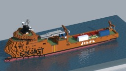 Esvagt Faraday Wind Farm Support Vessel Minecraft Map & Project