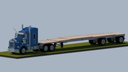 Kenworth T800 with spread axle flatbed Minecraft Map & Project