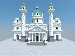 Karlskirche Vienna, Austria Minecraft Map & Project