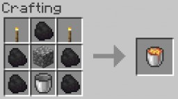 Lava Crafting Minecraft Data Pack