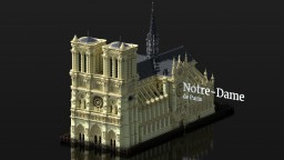 Notre-Dame de Paris - Preserving World Heritage  [Timelapse + DOWNLOAD] Minecraft Map & Project