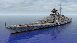 Bismarck-Class Battleship 1:1 Minecraft Map & Project