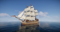 The Pride of Winter - Fictional Ship of the Line Minecraft Map & Project