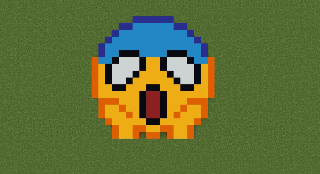 Emoji Pixel Art Minecraft Project