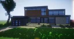 A Modern House Minecraft Map & Project