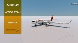 Airbus A320-251N Iberia [+Download] Minecraft Map & Project
