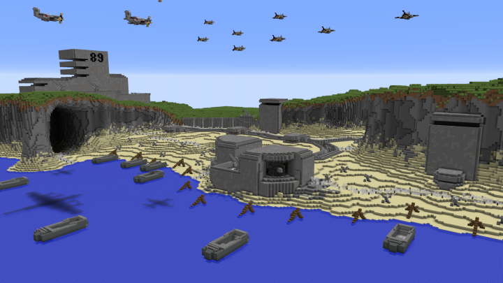 Atlantic Wall - 75th D-Day Anniversary Map Minecraft Project on democracy map, d-day landings map, nazi map, hitler map, d-day animated map, normandy map, france map, d day weather map, boat map, oklahoma d-day map, action map, dayz map, eisenhower map, d-day europe map, juno beach map, falaise gap map, d-day interactive map, d-day beach map, minecraft d-day map,