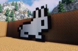 Terraria Bunny Pixel Art Minecraft Map & Project