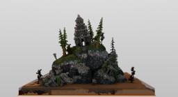 Arjuna Temple in Dieng Kulon Minecraft Map & Project