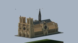 Notre Dame Cathedral Minecraft Map & Project