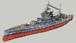 British Battleship HMS Warspite 1:1 Minecraft Map & Project