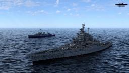 USS West Virginia 1945 1:1 Scale Minecraft Map & Project