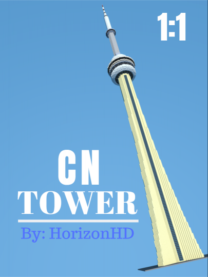 1 1 Cn Tower Toronto Minecraft Map