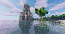 Seaside Spawn Tower Minecraft Map & Project