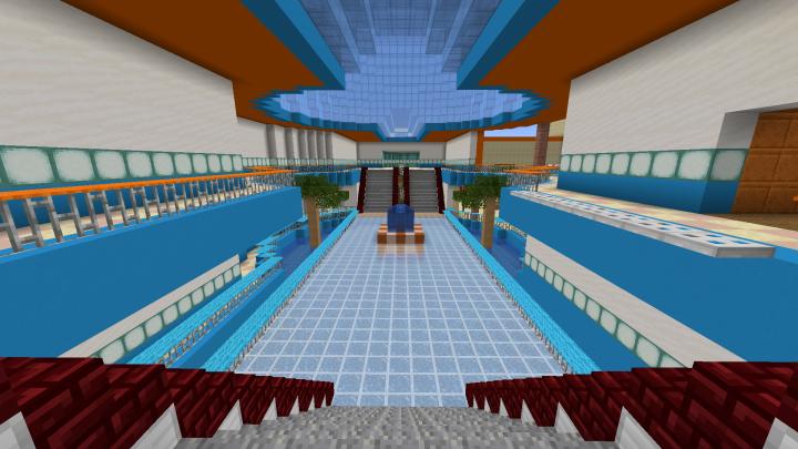 Mario Kart Wii S Coconut Mall Minecraft Map
