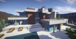 Los Angeles Modern House Minecraft Map & Project