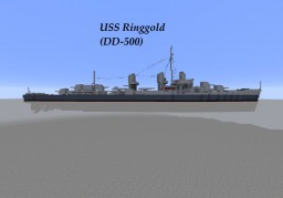 USS Ringgold (DD-500) Minecraft Map & Project