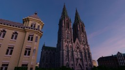 Cathedral with surrounding area Minecraft Map & Project