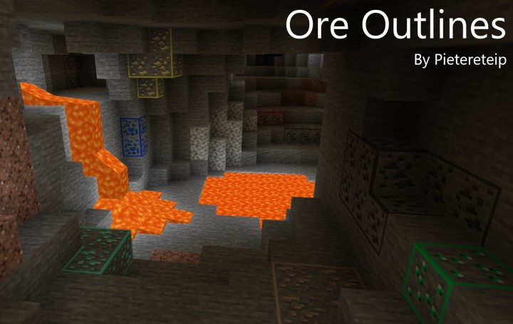 Ore Outlines (With OptiFine Connected Textures) [1 13+]