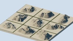 Worldpainter mountain brushes Minecraft Map & Project