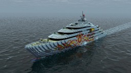 Megayacht Sunrise [Full Interior] Download CANCELED Minecraft Map & Project