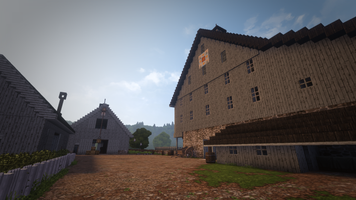 Carriage House, Stable, and Bank Barn