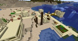 Buried ship, in a village, on the beach, with a ravine, near glaciers...and more!!! - 1.14.2 Seed Minecraft Map & Project