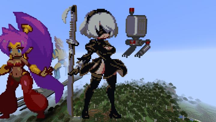 2b Nier Automata Minecraft Project