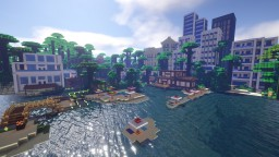Tropical town Minecraft Map & Project