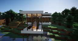 1.14.2 Secluded Modern Forest Home Minecraft Map & Project