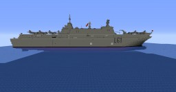 aircraft carrier LHD Juan Carlos 1 Minecraft Map & Project