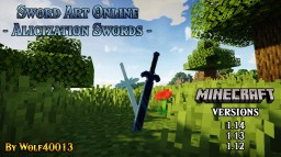 Sword Art Online: Alicization Swords [1.12 / 1.14 / 1.15] Minecraft Texture Pack